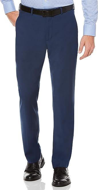 Amazon Com Perry Ellis Men S Portfolio Pantalones De Vestir Lisos De Ajuste Moderno De Bengalina Para Hombres Clothing