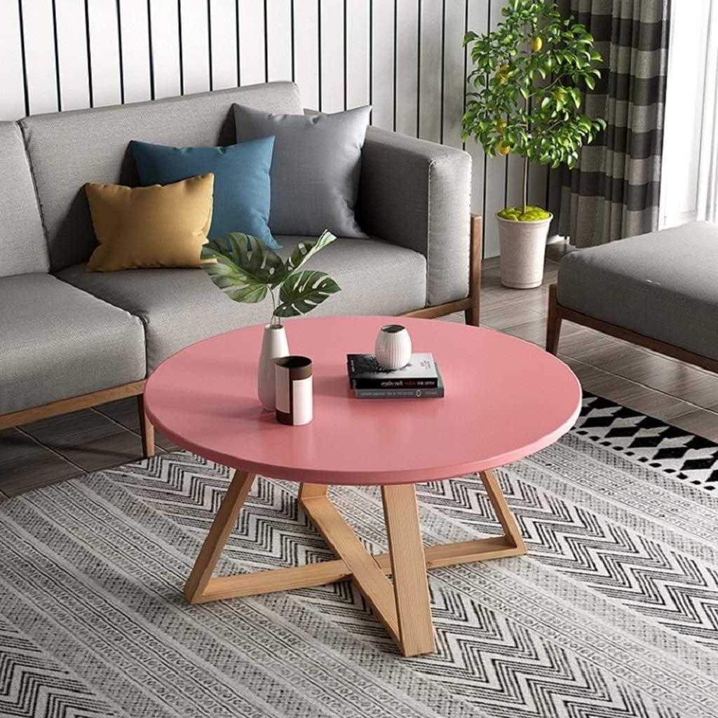 Tavolino Da Salotto Elegante Tavolino In Legno Massello Tavolino Da Salotto Rotondo Da Salotto Mini Tavolino Da Salotto Rotondo Semplice Robusto E Solido Color Pink Size 60x45cm Soggiorno Tavolini Da Caffe