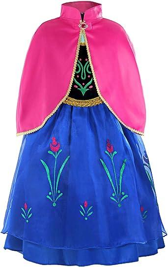 TODDLER ICE PRINCESS ANNA GIRLS FANCY DRESS WORLD BOOK DAY WEEK COSTUME 2-4 YRS