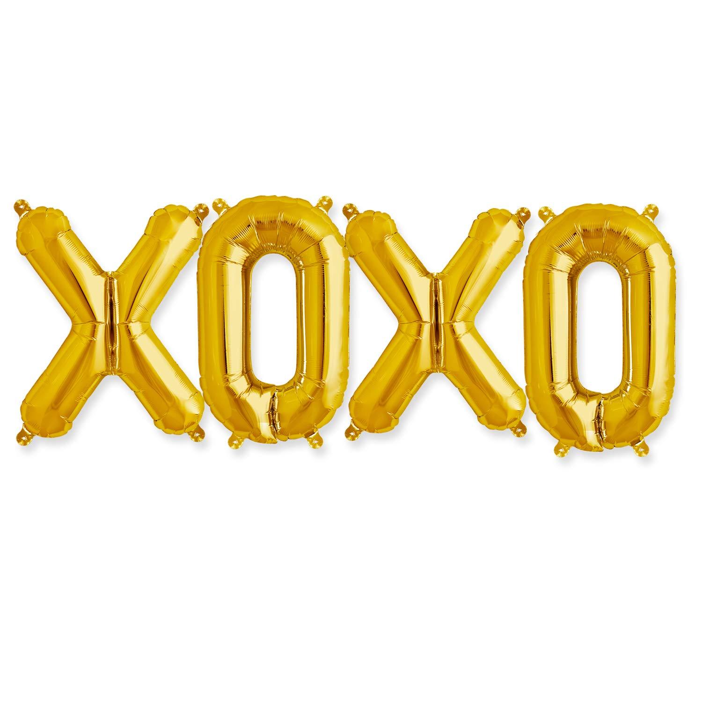 XOXO バルーンキット 15個パック 34インチ ゴールドレセプションデコレーション   B07JQ683BW