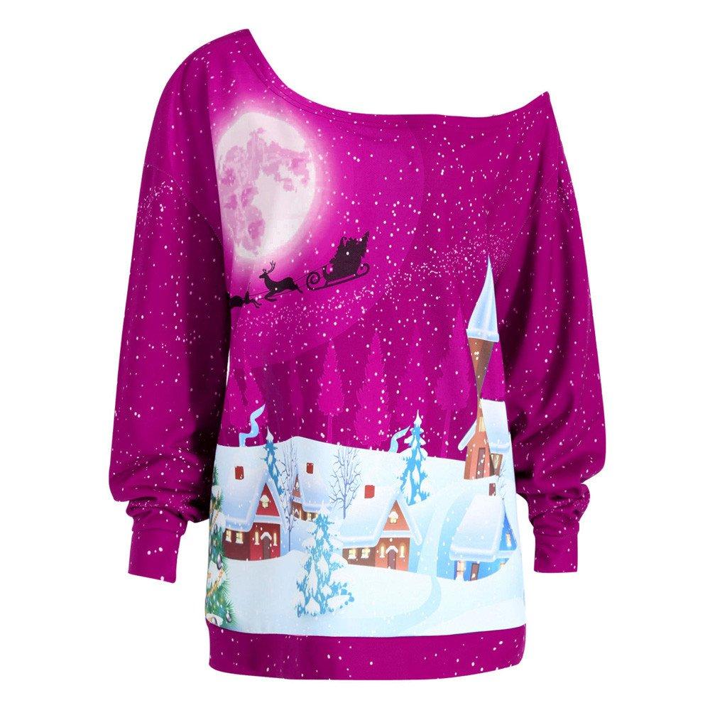 Women's Hoodies Sweatshirt,Thenlian Hooded Sweatshirt Christmas Printed Hoodie Long Sleeve Pullover Drawstring Jumper Tops Blouse Crop sweater by Thenlian Hoodies Sweatshirt 5