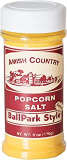 product image for Amish Country Popcorn | Ballpark ButterSalt Popcorn Salt - 6 oz Bottle | Old Fashioned with Recipe Guide (6 oz Bottle)