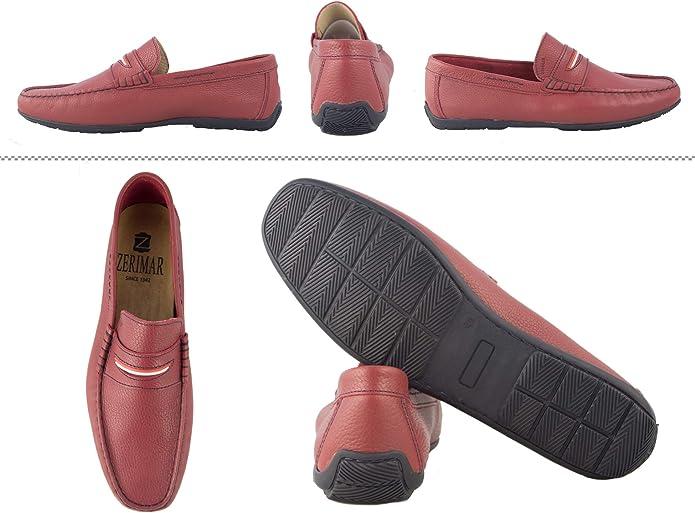 Zerimar Zapato Hombre Tallas Grandes 47 a 50  N/áuticos de Piel para Hombre N/áuticos Hombre Verano Mocasines Hombre Zapatos N/áuticos Hombre