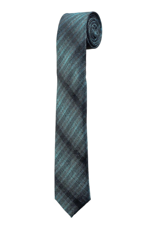 Corbata Fina Slim Rayure verde azul negro boda Design Dandy Oh La ...