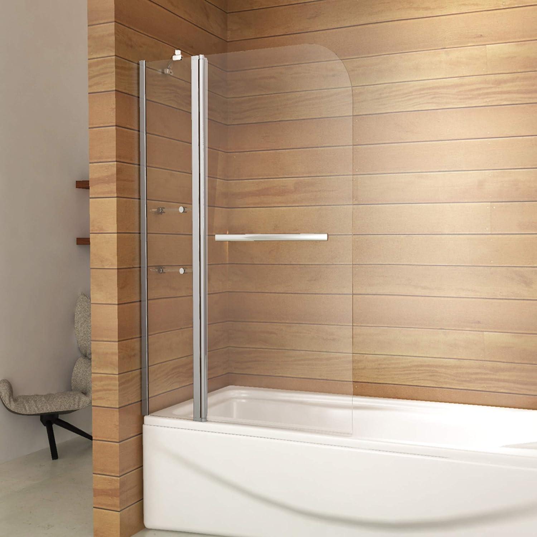 Mampara de ducha de 180 grados con estantes de cristal y toallero ...