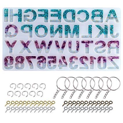 Amazon.com: Moldes de resina con letras del alfabeto y ...