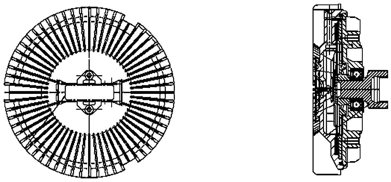 BEHR HELLA SERVICE 8MV 376 733-021 *** PREMIUM LINE *** Clutch, radiator fan Hella KGaA Hueck & Co. 376733021