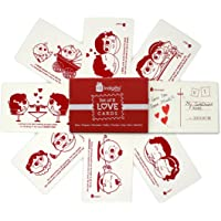 Indigifts Valentines Special Love Story Handmade Sheet Cute Message Postcard Set of 8-4''x 6' for Boyfriend-Girlfriend-Birthday, Anniversary, Love-Gifts, Naughty Gifts for Couple