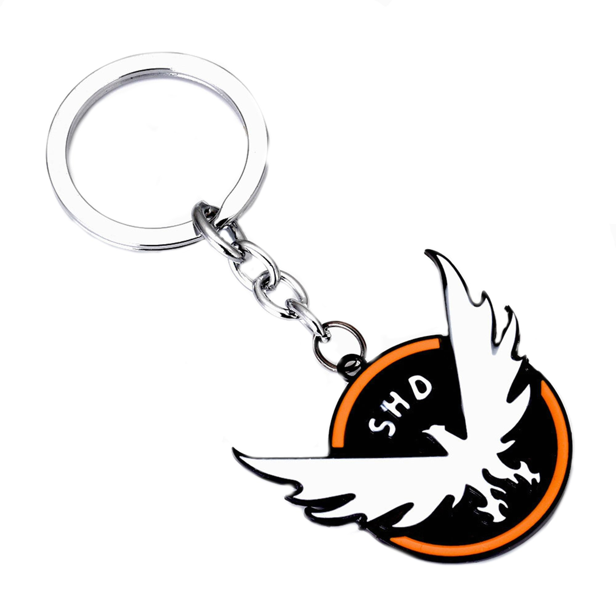 Superheroes Brand Tom Clancy The Division Keychain Key Ring Character Cartoon Superhero Gaming Console PC Games Logo Theme Cosplay Premium Quality Detailed Jewelry Gift Series by