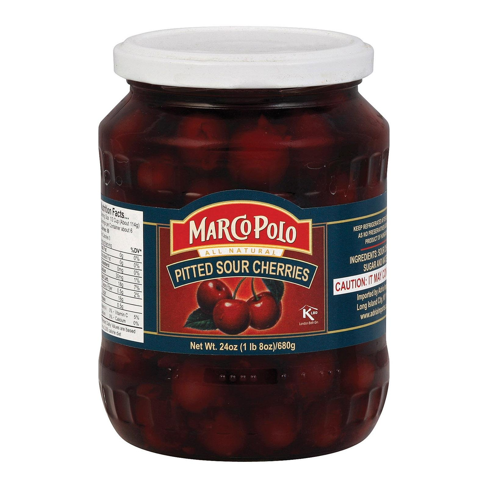Marco Polo Pitted Sour Cherries, 24 oz