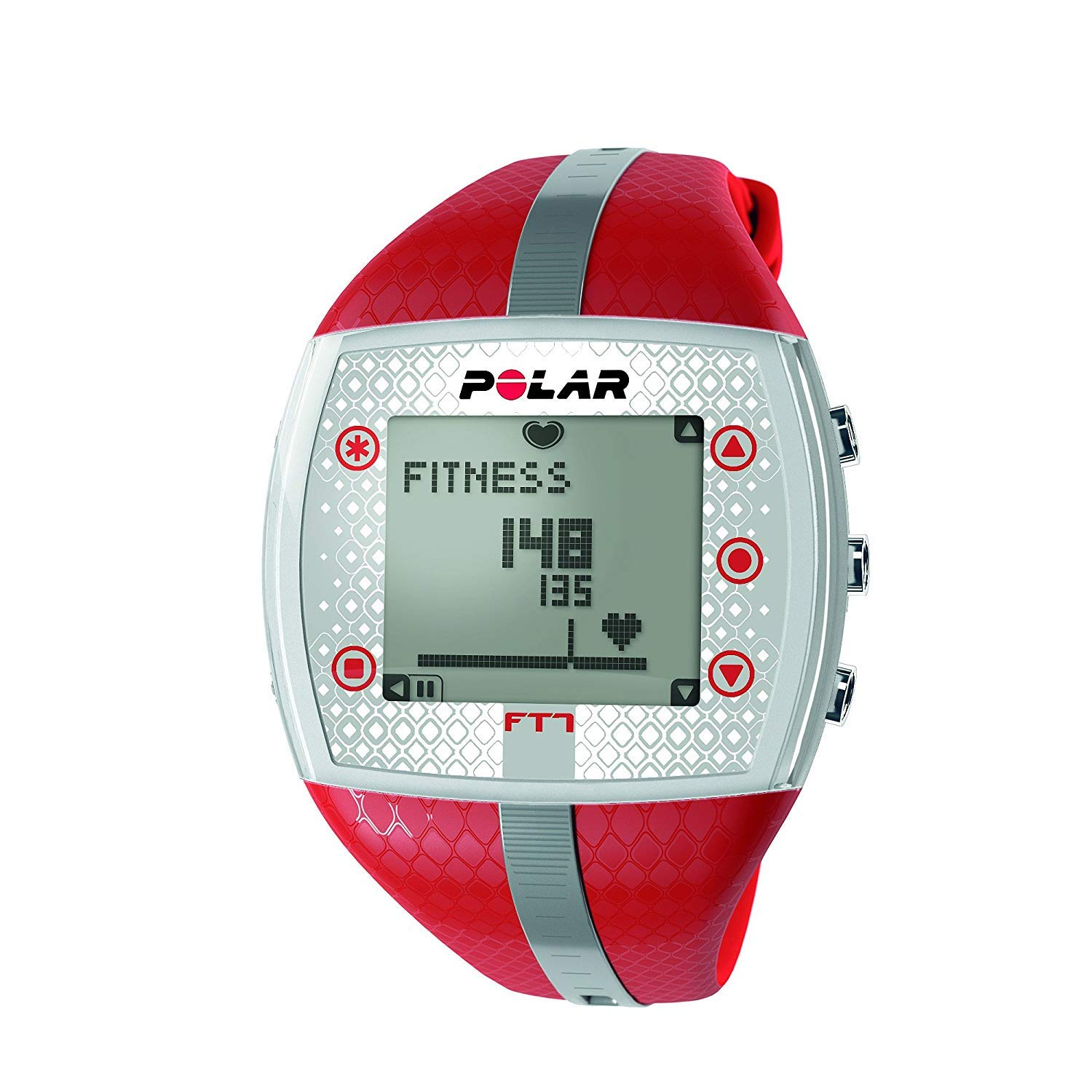 Polar FT7 Heart Rate Monitor (Renewed) (Red/Silver) by Polar