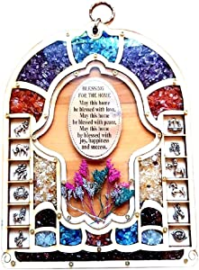 Bluenoemi Good Luck Hamsa Wall Decor Blessing for the Home Romantic Wall Hanging Mother's day Gift