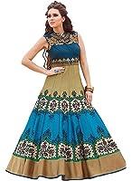 Mrs Women Women's Taffeta Silk Gown (Mrs-Sweg-32565,Multicolor,Free Size)