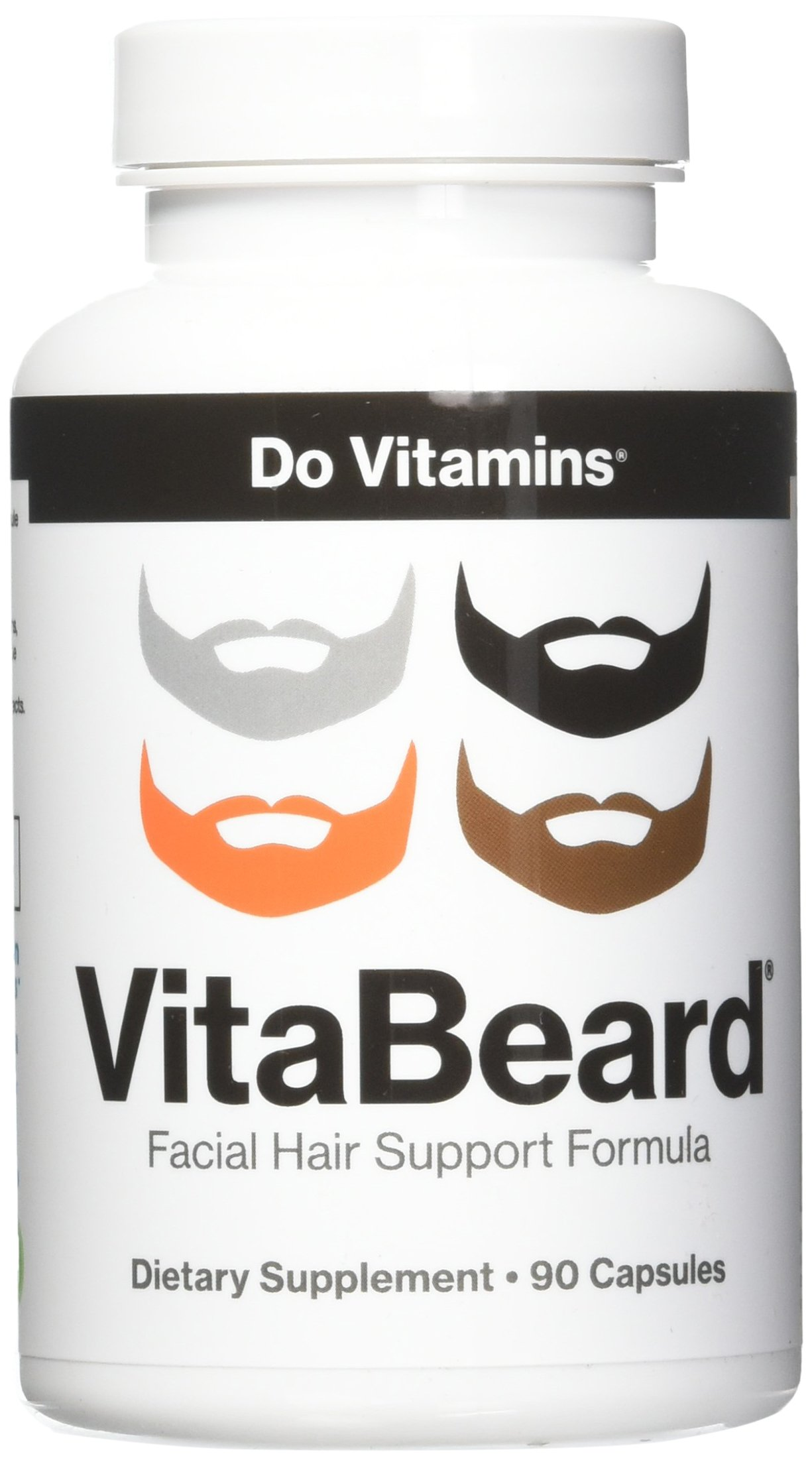 Do Vitamins - VitaBeard Facial Hair Growth Multivitamin, The Original Beard Growth Supplement for Men, Grow a Thicker Fuller Beard – Vegan, Non-GMO, 3rd Party Tested, 90 Capsules