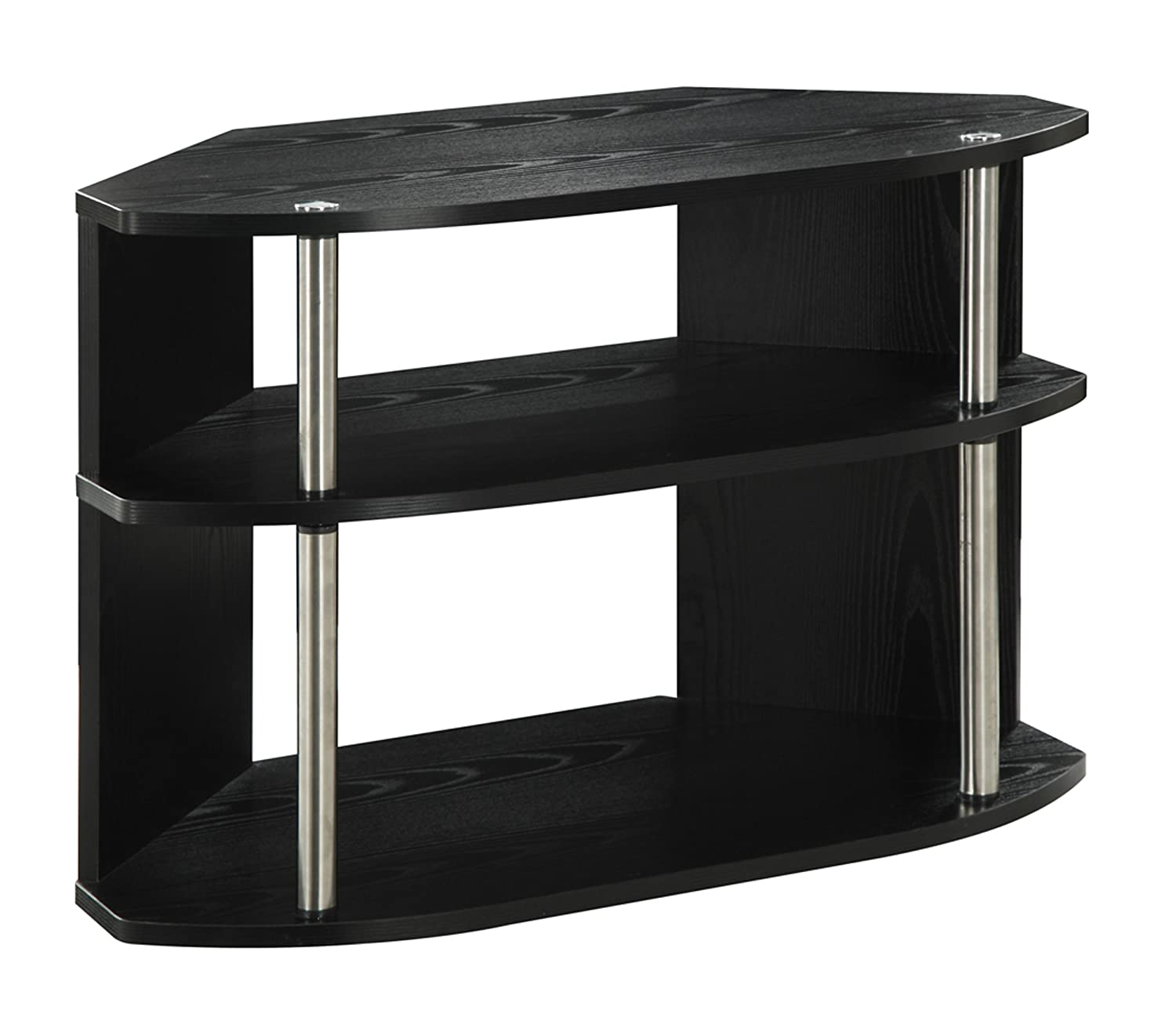 Convenience Concepts Designs2Go Swivel TV Stand, Black