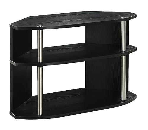 Convenience Concepts Designs2Go Swivel TV Stand, Black