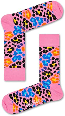 Happy Socks Men's Multi Leopard Sock, Multicoloured, 41-46