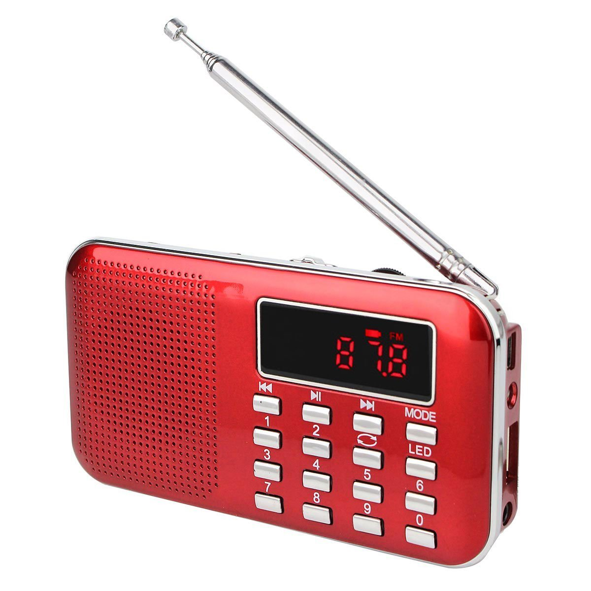 Retekess PR11 Am Fm Radio Portable Rechargeable Transistor Radios Small with Headphone Jack Mp3 Music Player Speaker Support Micro IF Card (Gold) TIVDIO L-218