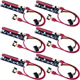 Mailiya 6-Pack PCIe Riser Mining Card PCI-E 16x to 1x Powered Riser Adapter Card w/ 60cm USB 3.0 Extension Cable & MOLEX to SATA Power Cable - GPU Riser Adapter Extender Cable - Ethereum Mining ETH