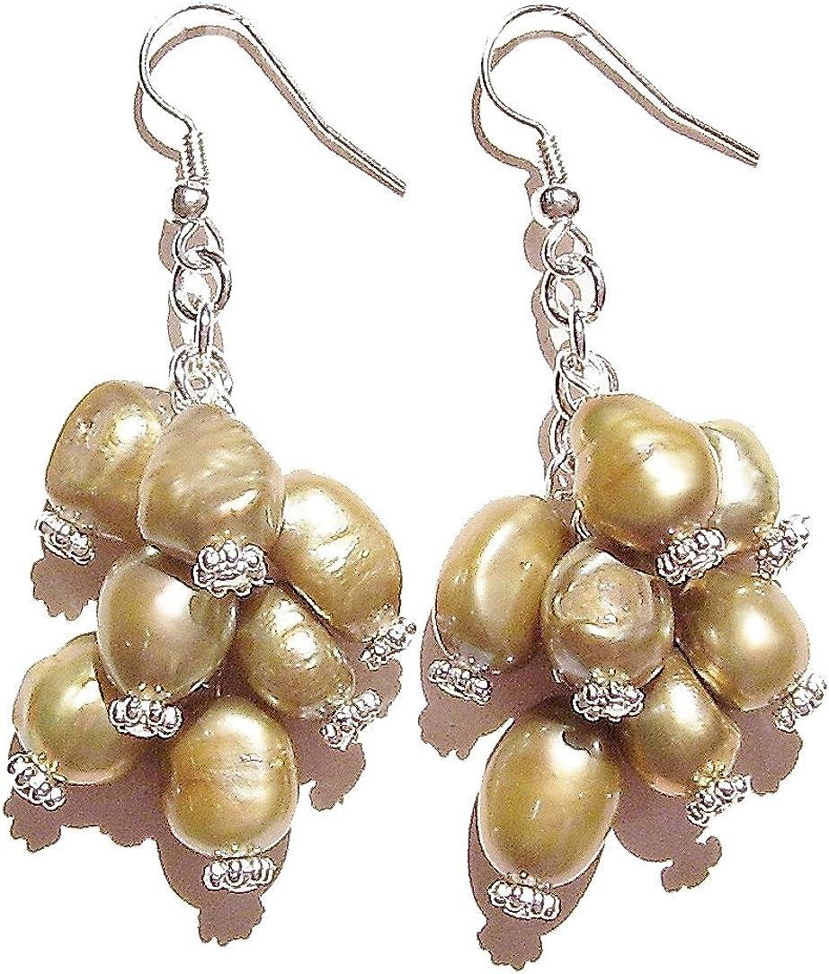 Silver Plated Earrings Chunky Glitter Jewellery Green Flower Resin Earrings