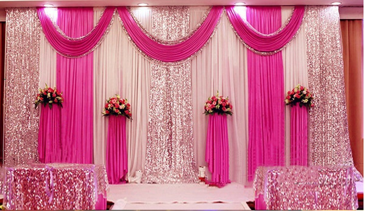 Amazon Wedding Stage Decorations Backdrop Party Drapes With