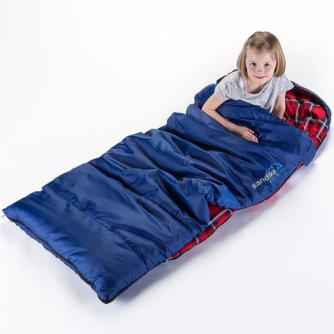 Skandika Outdoor Dundee Junior, Saco de Dormir Infantil, Azul/Rojo, L: Amazon.es: Deportes y aire libre