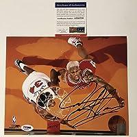 $49 » Autographed/Signed Dennis Rodman Chicago Bulls 8x10 Basketball Photo PSA/DNA COA #2