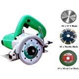 DIY Engineers 1050-1152 W Heavy Duty 4-inch Marble/Wood/Iron Cutter with 5 Wheels (Plastic, Green)