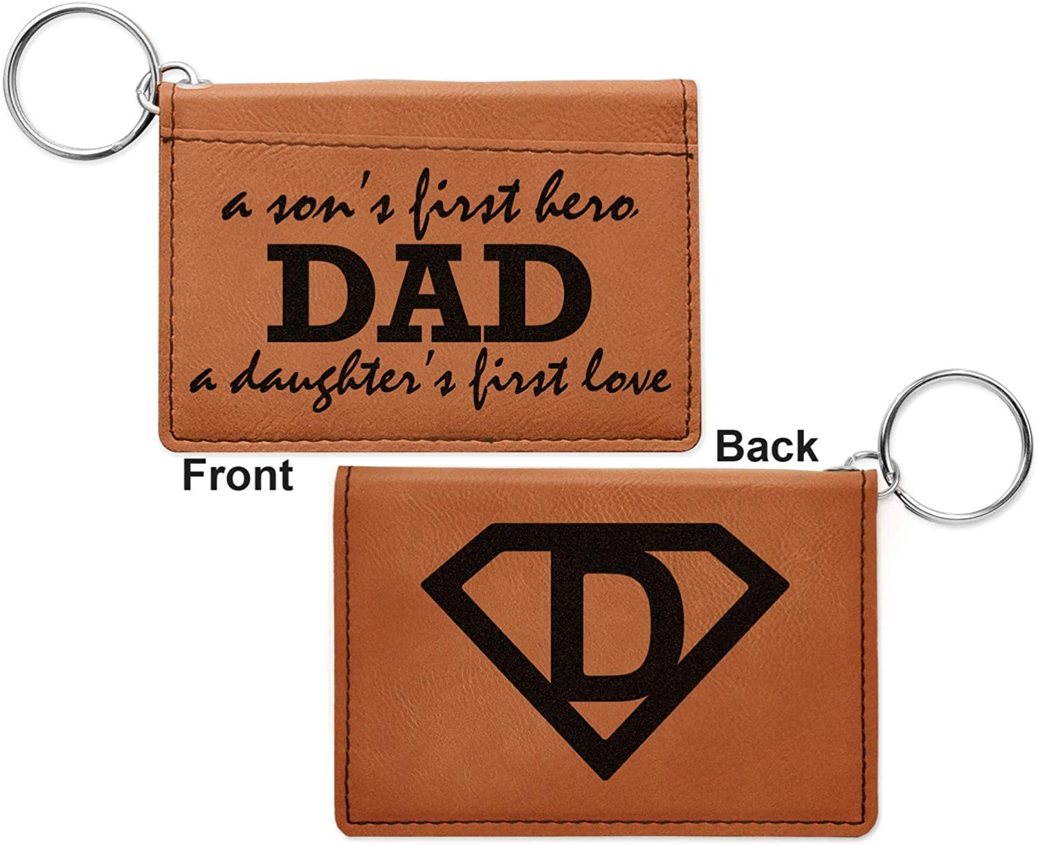 Single Sided Fathers Day Quotes /& Sayings Leatherette Passport Holder Personalized