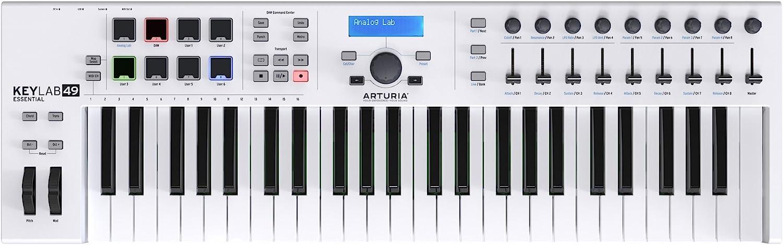 Arturia KeyLab 61 Essential Teclado Controlador MIDI, Negro, Blanco