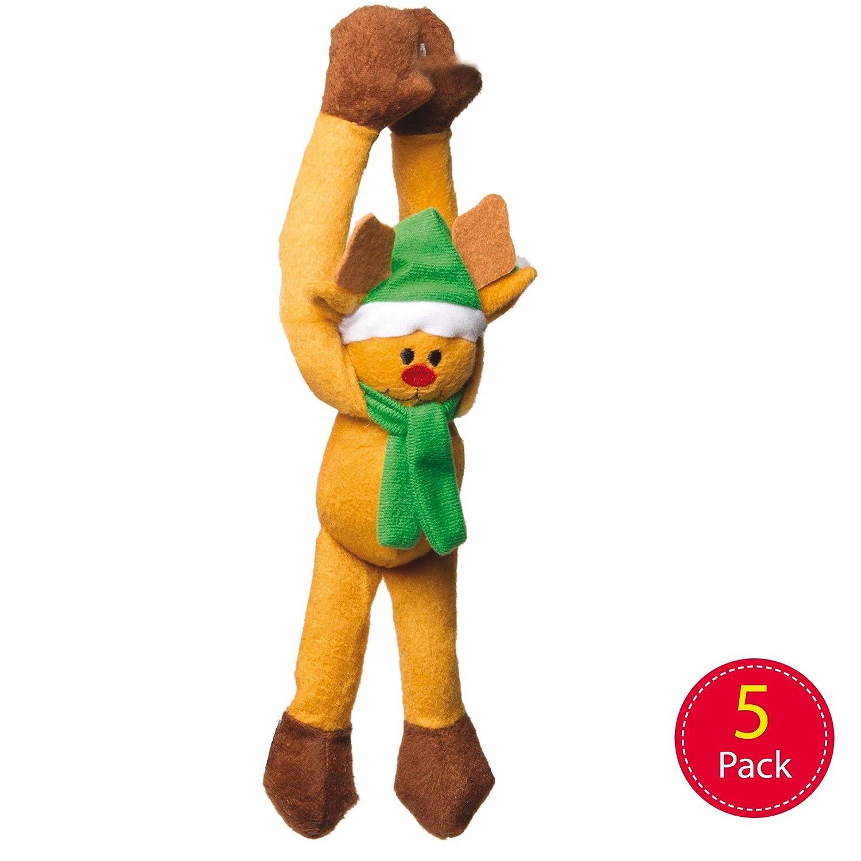 per Giocare ai Bambini Colori Assortiti da Appendere Confezione da 5 Peluche a Forma di Fagioli Natalizi Baker Ross AC174 Perfetto per la Calza della Befana e Come Regalo Invernale