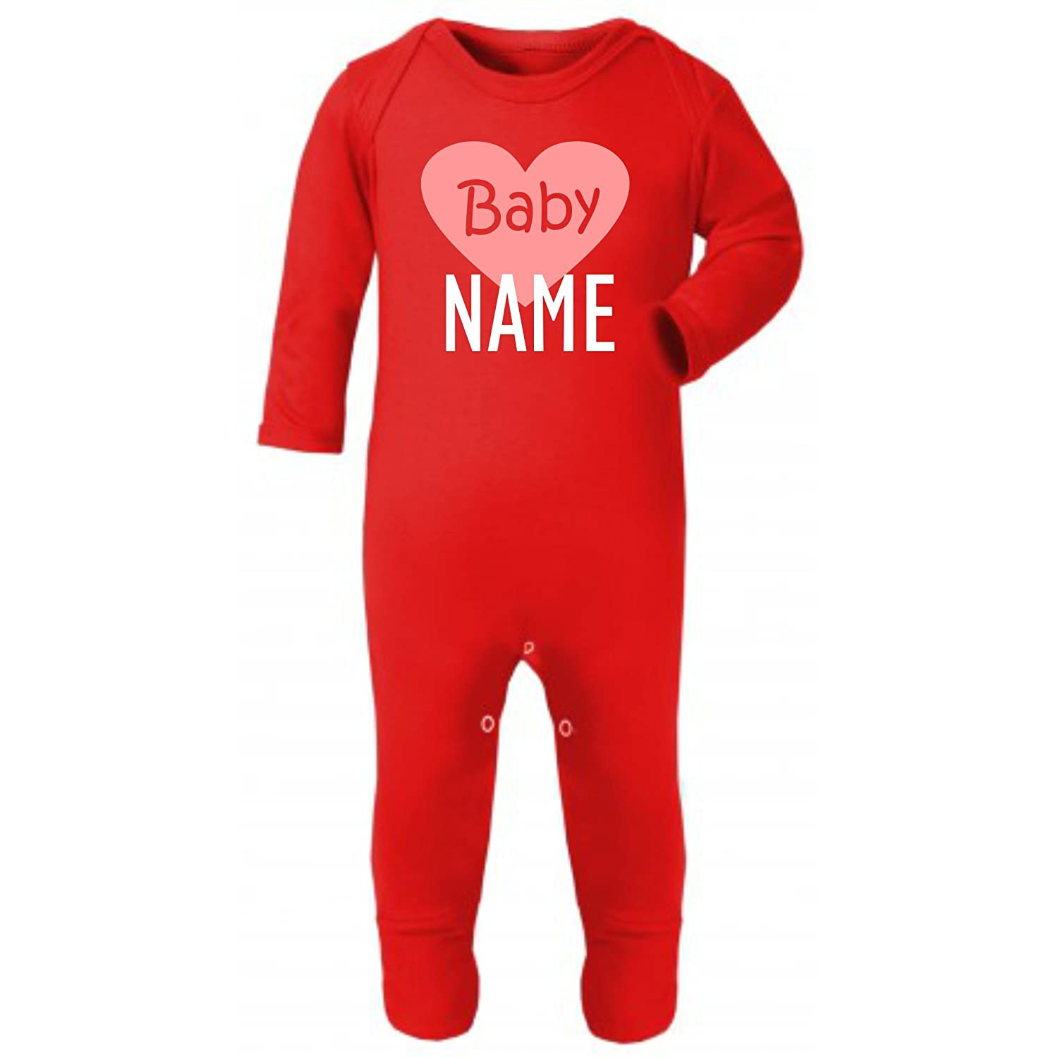 Embroidery and Print City Baby (Name) Personalised Funny Baby Rompersuit Sleepsuit