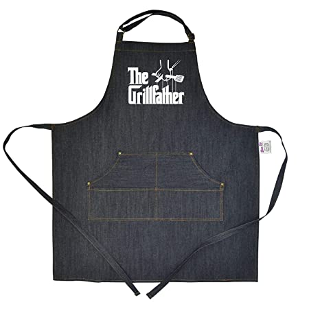 Bang Tidy Clothing Funny BBQ Denim Apron Novelty Cooking Gifts for Men Manly Apron