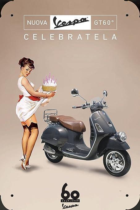 Vespa Scooter G60 Year Celebrating metal poster cartel ...