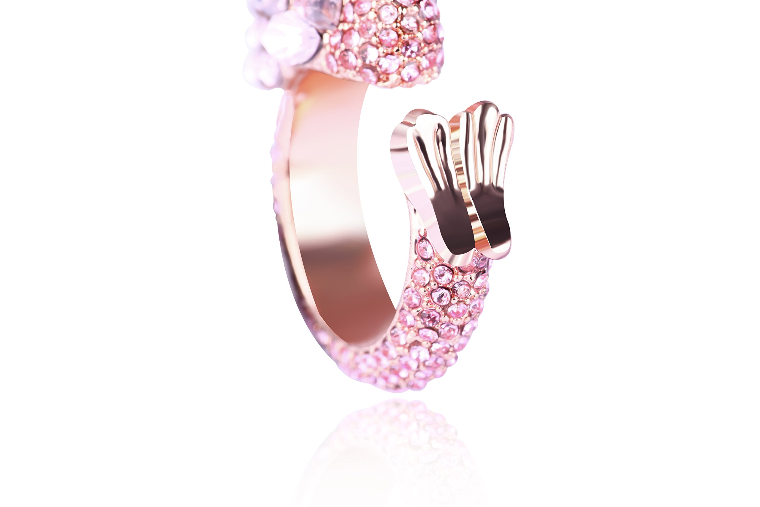 Animal Ring Cute Flamingo for Young Womens Gifts Mom Birthday Teens Girls Party Cuff Statement Ring (Pink) by Paitse (Image #5)