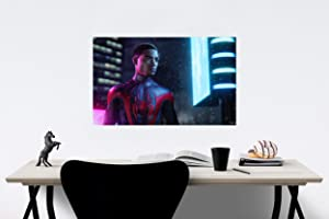 Spider-Man: Miles Morales Game Poster Wall Decor Art Wall Art Print Gift Poster Unframed Poster Print Canvas Printing Size - 11