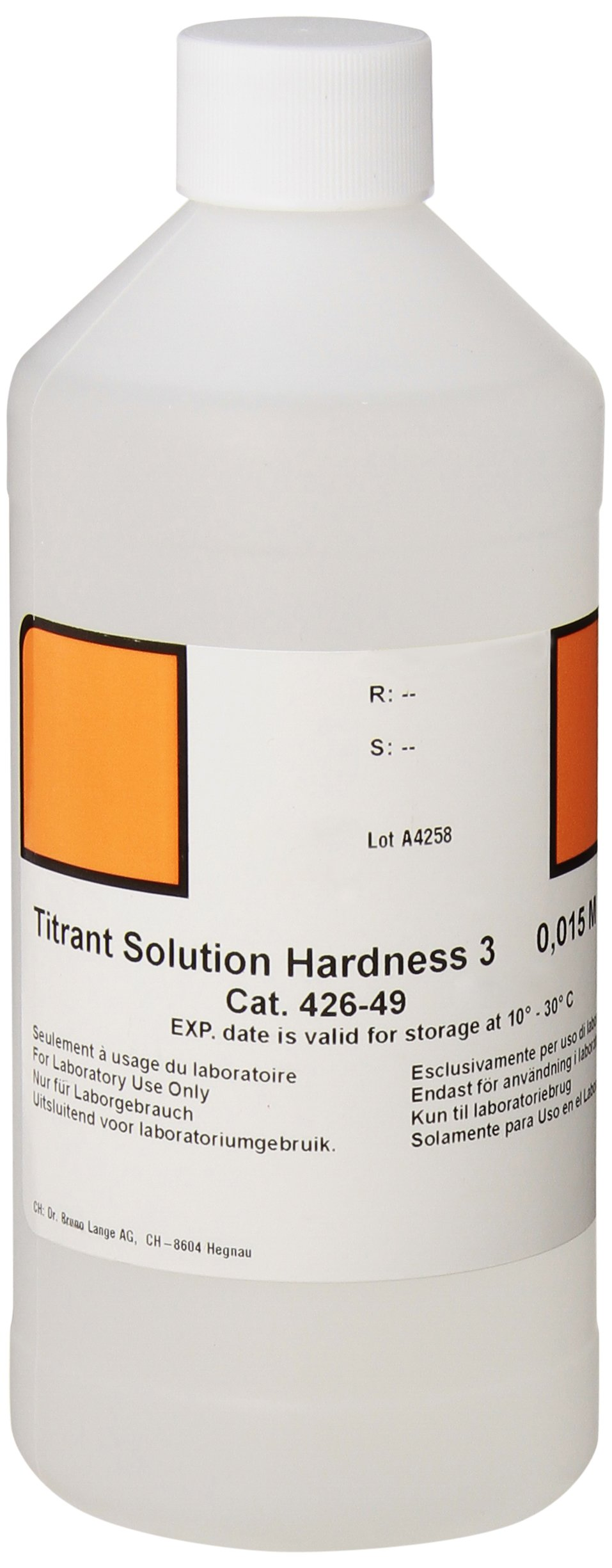 Hach 42649 Hardness 3 Solution, 500 mL