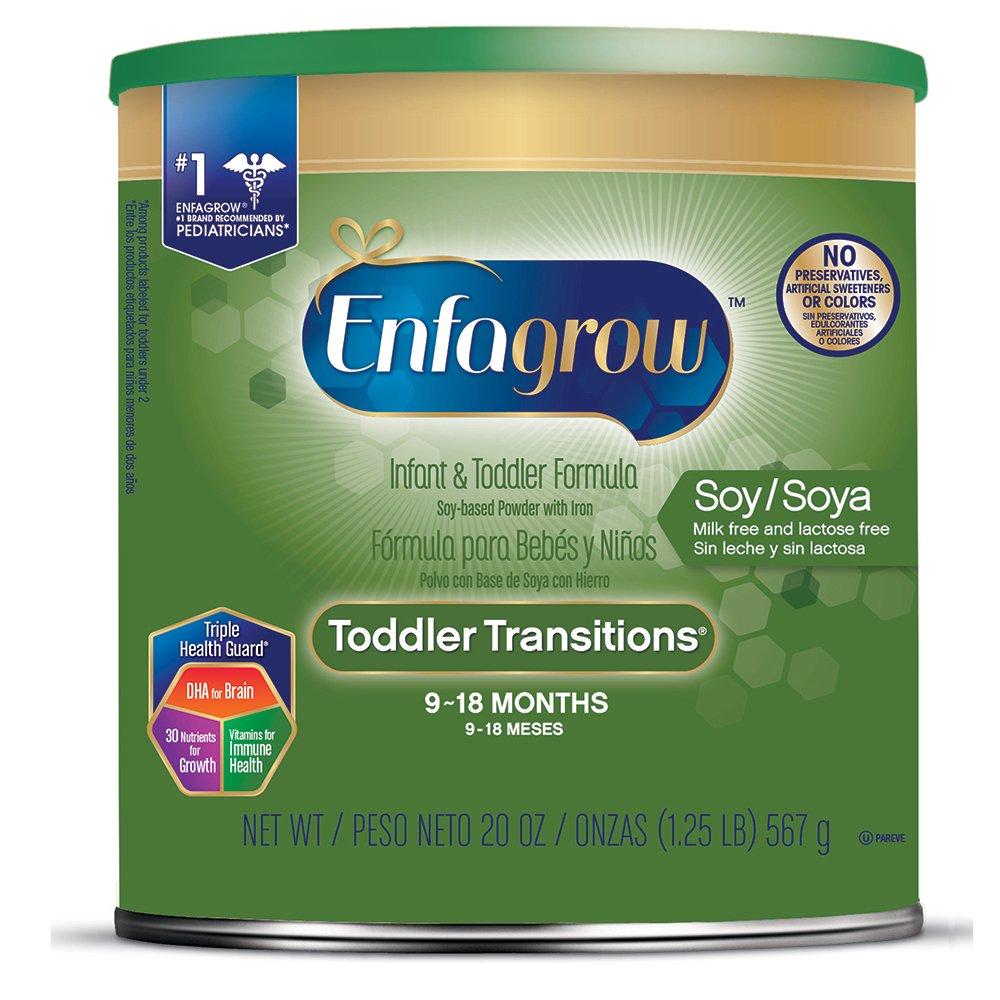 Enfagrow Toddler Transitions Soy Formula - Milk & Lactose Free - Powder Can, 20 oz