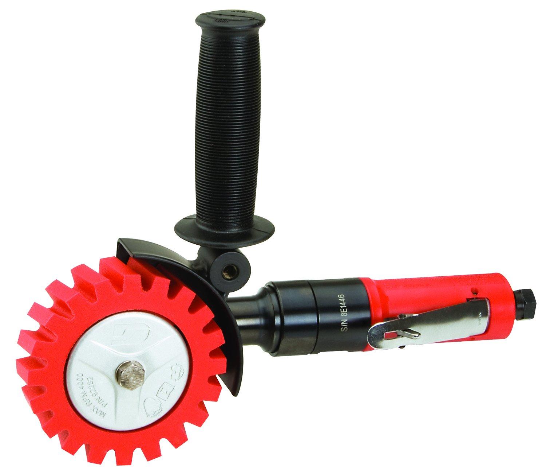 Dynabrade 18258 DynaZip Eraser Wheel Tool, Red