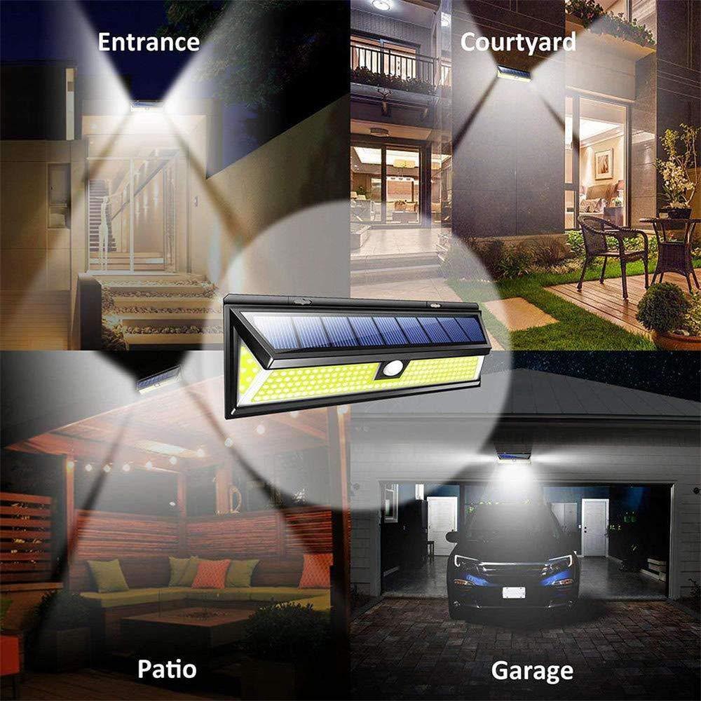 Solar Lights Outdoor, Businda Aluminum Alloy 120° Infrared Solar Lights Wireless Motion Sensor Outdoor Light Waterproof IP65 Security Lights for Front Door, Yard, Garage, Deck by Businda (Image #3)