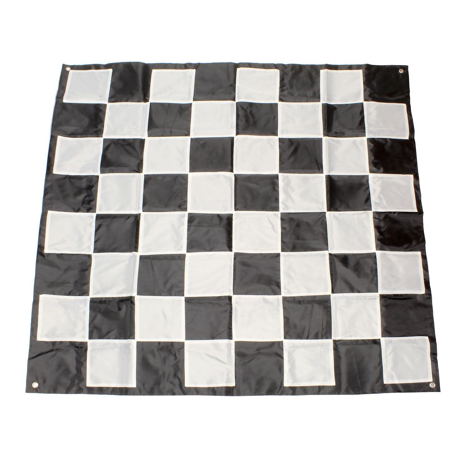 Get Out! | Giant Checkers Board Outdoor Games for Family – 9x9' Ft Plastic Checkers Rug, Big Checker Board Checkers Mat