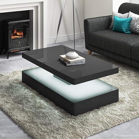 Tiffany High Gloss Grey Coffee Table With Led Lighting Range