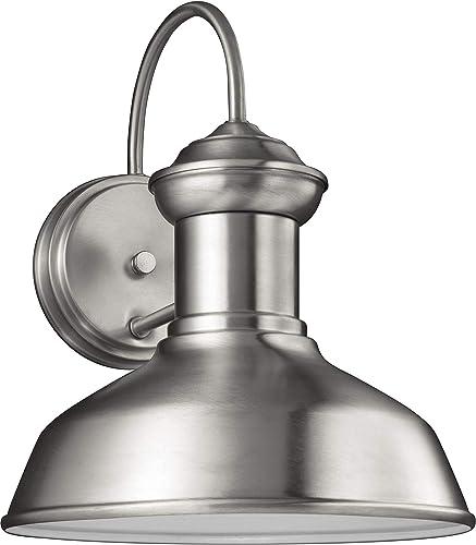 Sea Gull Lighting 8547793S-04 Fredricksburg Small LED Outdoor Wall Lantern, Satin Aluminum