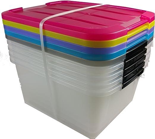 Caja de almacenamiento x 5, caja de almacenaje, caja con asas ...