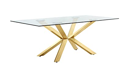 Meridian Furniture 716 T Capri Contemporary Style 78quot Rectangular Dining Room Table With Rich