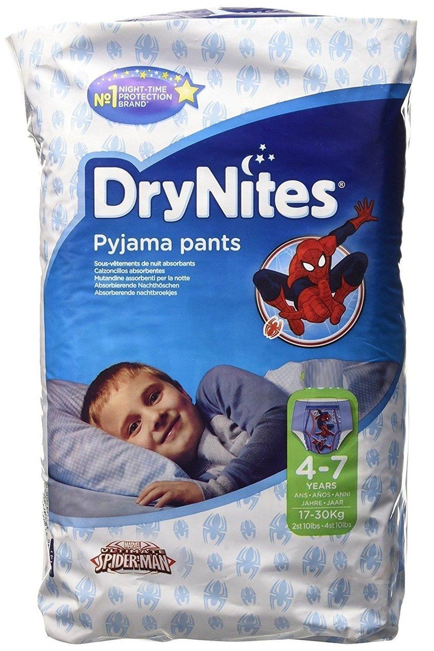 Huggies 4 - 7 años DryNites Calzoncillos absorbentes Spiderman 30 por paquete: Amazon.es: Bebé