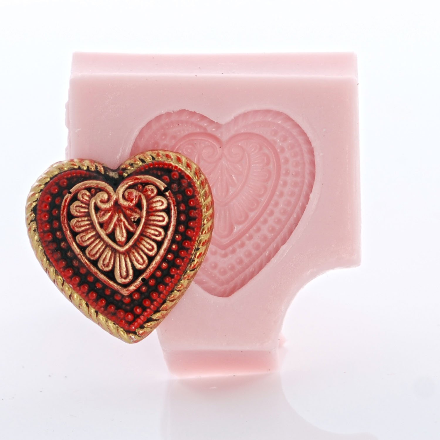 Lovers Valentine/'s Day Romantic Candy Resin Heart Mold Ice Food Safe Silicone Chocolate Soap