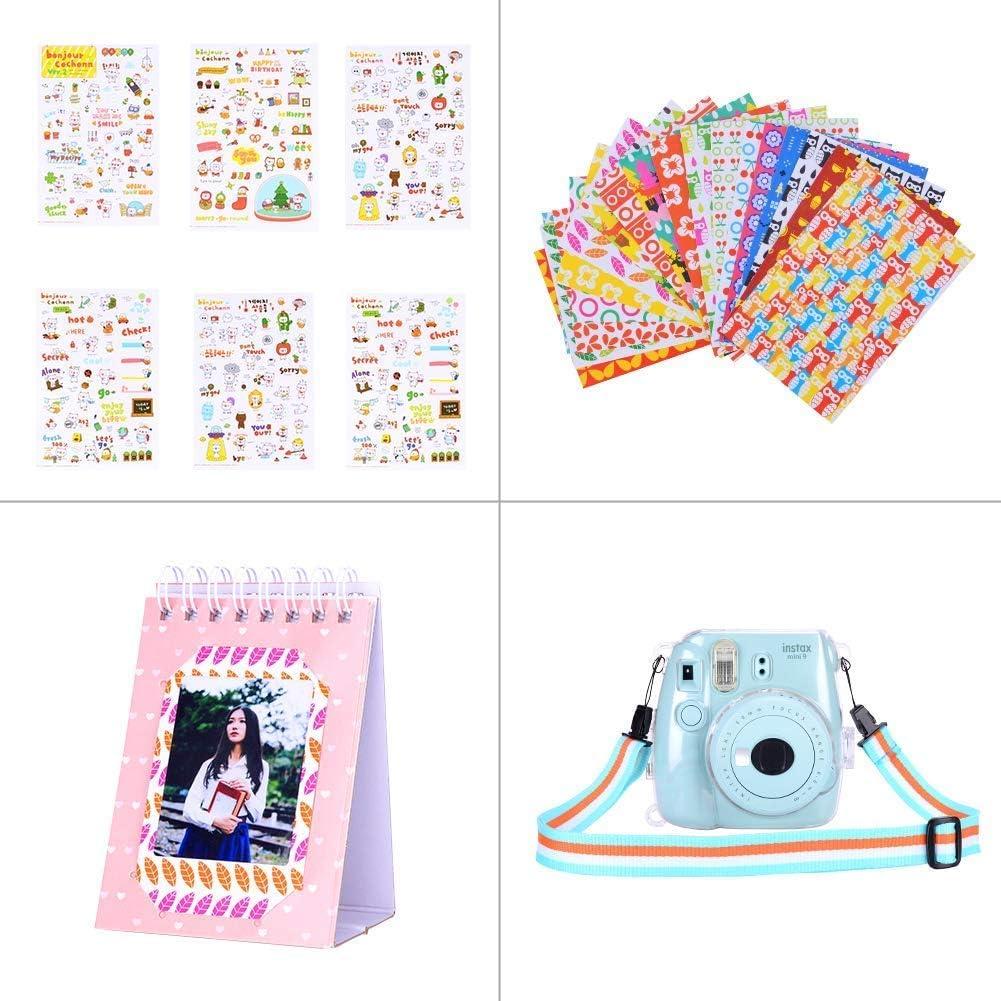 Camera,Includes Mini 9 Case//Albums//Six Color Filters//Selfie Lens//Camera Sticker 12 in 1 Mangrove Lai Amarcor Instax Mini 9 Camera Accessories Set for Fujifilm Instax Mini 9// Mini 8// Mini 8