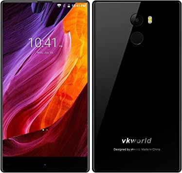 Smartphone Phablet sin Marcos -Vkworld Mix Plus- 5.5 4G Android 7.0 MTK6737 Quad Core 1.3GHz 3GB RAM 32GB ROM 13.0MP cámara Trasera Sensor de Huellas Digitales, Negro: Amazon.es: Electrónica