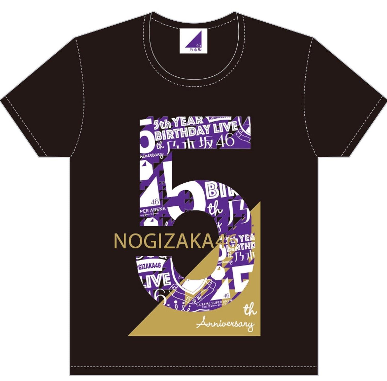 乃木坂46 5th YEAR BIRTHDAY LIVE Tシャツ ブラック Mサイズ   B06WWL1F48